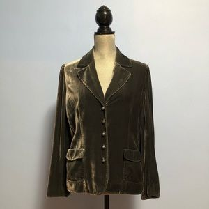 Saks Fifth ave velvet blazer jacket
